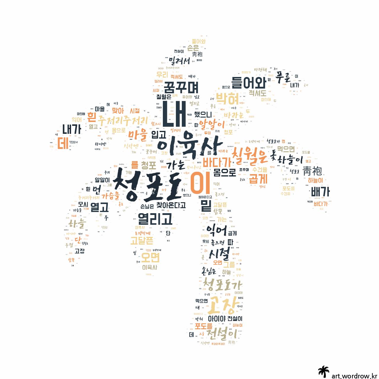 워드 아트: 청포도 [이육사]-78